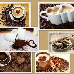 Пазл онлайн: Кофейный коллаж
