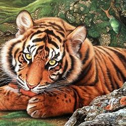 Пазл онлайн: Суматранский тигр