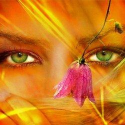 Пазл онлайн: Глаза, как зеркало души...