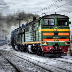 Пазл онлайн: Железнодорожный локомотив