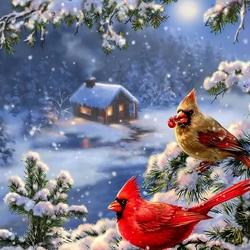 Пазл онлайн: Разгар зимы