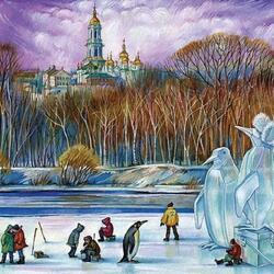 Пазл онлайн: Киевские фантазии