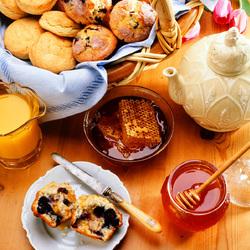 Пазл онлайн: Мед и выпечка