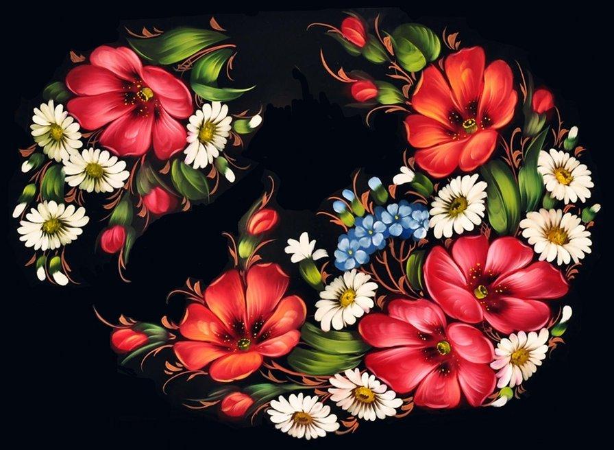 картинки роспись жостовская