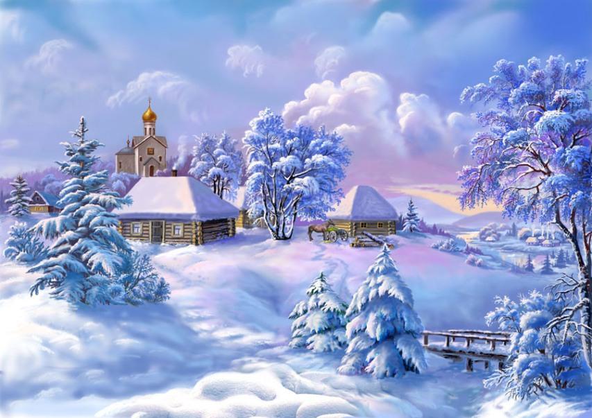 Зимние открытки для