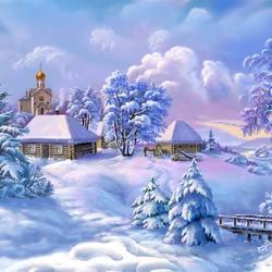 Пазл онлайн: Зимний сюжет