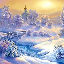 Пазл онлайн: Снежно