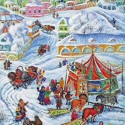 Пазл онлайн: Зимний праздник