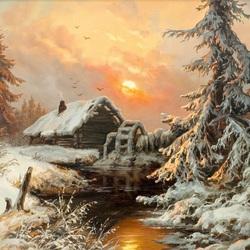 Пазл онлайн: Зима в лесу