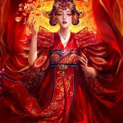 Пазл онлайн: Цветок Востока