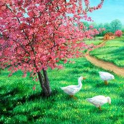 Пазл онлайн: Время вишневого цвета