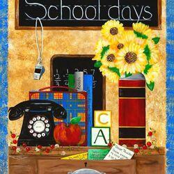Пазл онлайн: Школьный день