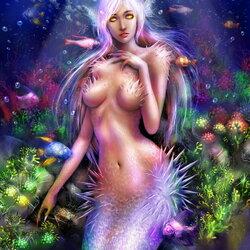Пазл онлайн: Необычная русалка