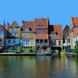 Пазл онлайн:  Голландская Венеция - Энкхейзен