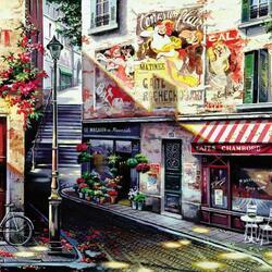 Пазл онлайн: Парижские улочки