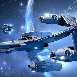 Пазл онлайн: Космический корабль