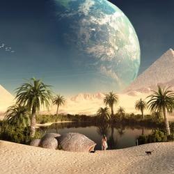 Пазл онлайн: Фантастический пейзаж