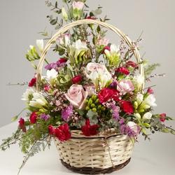 Пазл онлайн: Цветы в корзинке