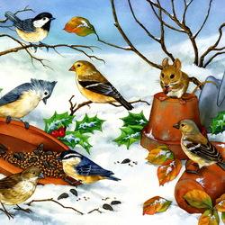Пазл онлайн: Птичий базар