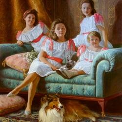 Пазл онлайн:  Дочери Николая II