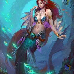 Пазл онлайн: Морская красавица