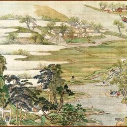 Пазл онлайн: The Qianlong Emperor's Southern Inspection Tour / Южный инспекционный Тур император Цяньлун
