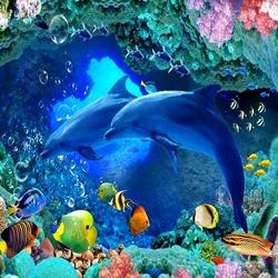 Пазл онлайн: Морские глубины и их обитатели