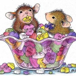 Пазл онлайн: Сладкие валентинки