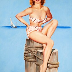 Пазл онлайн: Девушка в купальнике