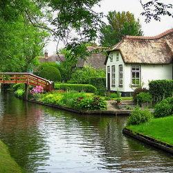 Пазл онлайн: Гитхорн - Голландская Венеция