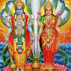 Пазл онлайн: Вишну и Лакшми
