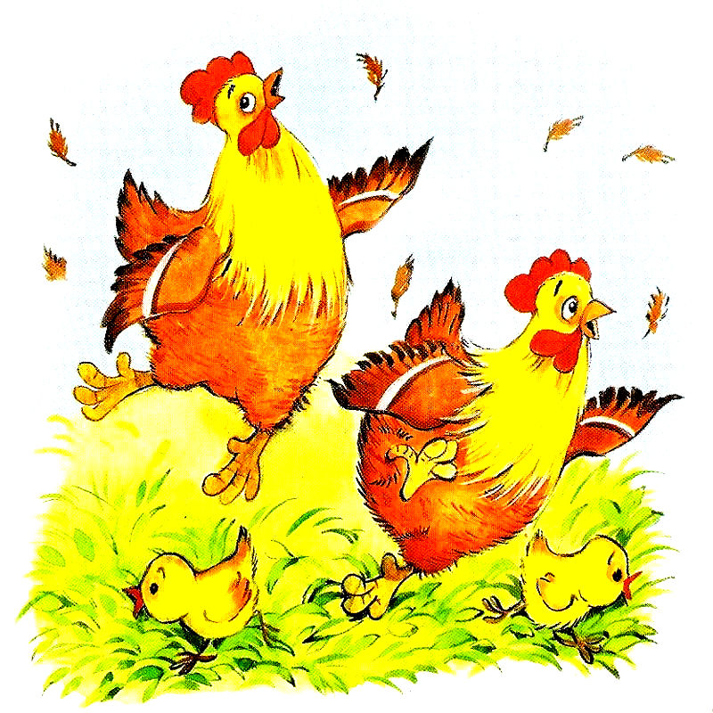 Картинки курица с цыплятами нарисованные, поздравление