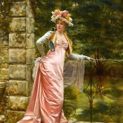 Пазл онлайн: Элегантная дама