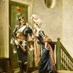 Пазл онлайн: Дама и гусар