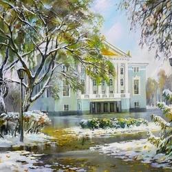 Пазл онлайн: Пермь. Первый снег у Оперного театра