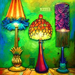 Пазл онлайн: Лампы на продажу