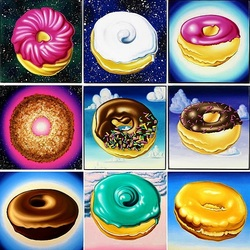Пазл онлайн: Пончики с глазурью