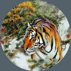Пазл онлайн: Шиэр Шэнсяо-шэнь - Духи животных 12-летнего цикла