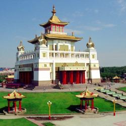 Пазл онлайн: Золотая обитель Будды Шакьямуни