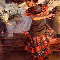 Пазл онлайн: Фламенко