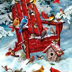 Пазл онлайн: Красное кресло