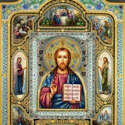 Пазл онлайн: Икона Спаситель