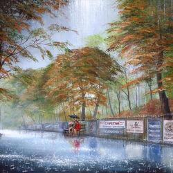 Пазл онлайн: Влюбленные под дождем