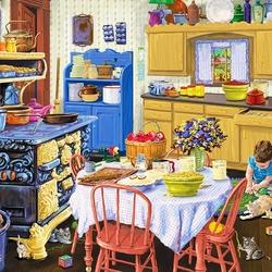 Пазл онлайн: Кухня бабушки