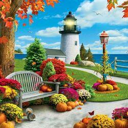 Пазл онлайн: Осенний парус