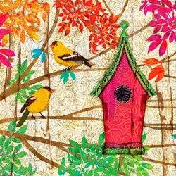 Пазл онлайн: Домик для птиц