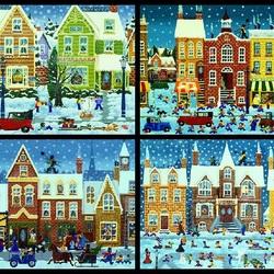 Пазл онлайн: Зимний городок