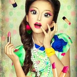 Пазл онлайн: Модный макияж