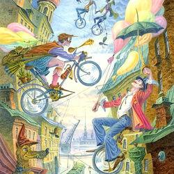 Пазл онлайн: Велосипедисты