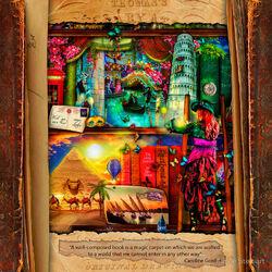 Пазл онлайн: Странный календарь библиотеки:  Ноябрь